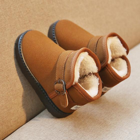 【维尼甜心旗舰店】     儿童雪地靴2019冬季新款加绒加厚女(每个ID限购1件)