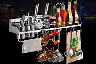心力 厨房置物架 壁挂 304不锈钢调