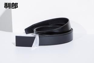 利郎皮带新款专柜正品男士黑色自动扣腰带商务皮带6DPD08801