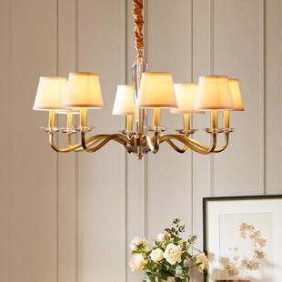 美式客厅水晶吊灯