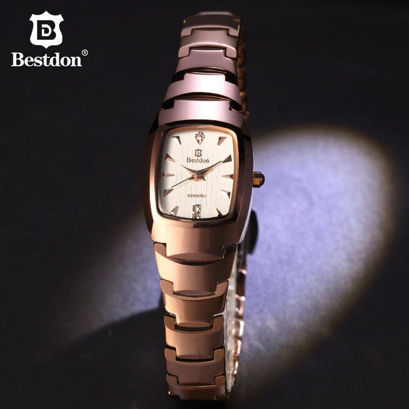 邦顿钨钢手表女款 长方形小表盘时