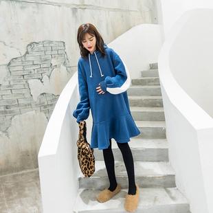 孕妇卫衣冬季加厚加绒2018新款韩版