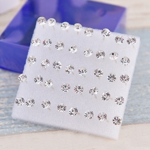 A box of plastic needles simple and fashionable earrings for men and women